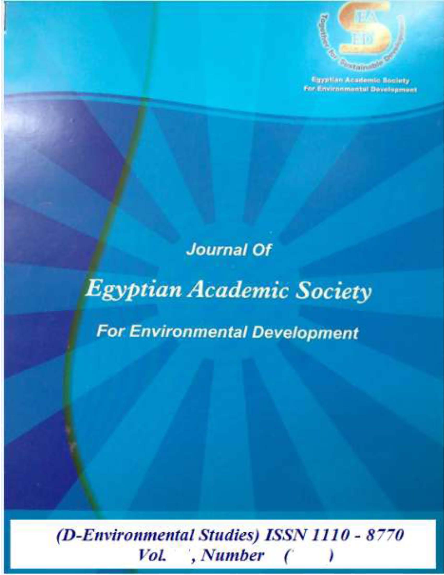 Journal of Egyptian Academic Society for Environmental Development. D, Environmental Studies